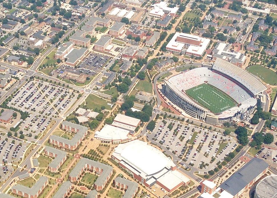 Auburn 2013 Campus Aerial CM