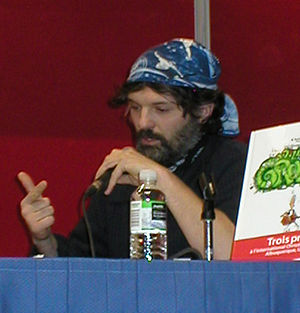 Alain Auderset - Alain Auderset being interviewed at Le Festival de la BD francophone in Québec City, QC, Canada, in 2010