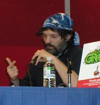 Alain Auderset - Alain Auderset being interviewed at Le Festival de la BD francophone in Québec City, QC, Canada, in 2010