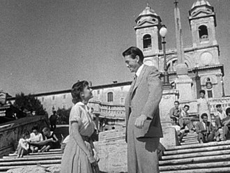 "Hollywood on the Tiber - Trailer of the famous ""Roman Holiday"" film with Gregory Peck and Audrey Heburn"