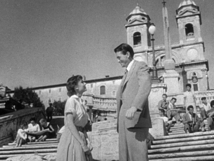 Audrey Hepburn and Gregory Peck in Roman Holiday trailer 2