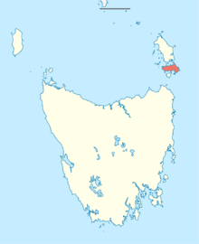 Australia Tasmania location map Cape Barren Island.png