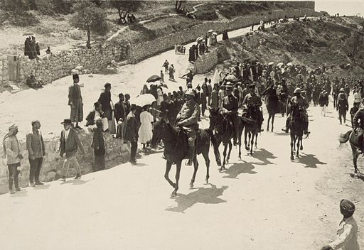 Austrian artillery commander entering Jerusalem, 1916