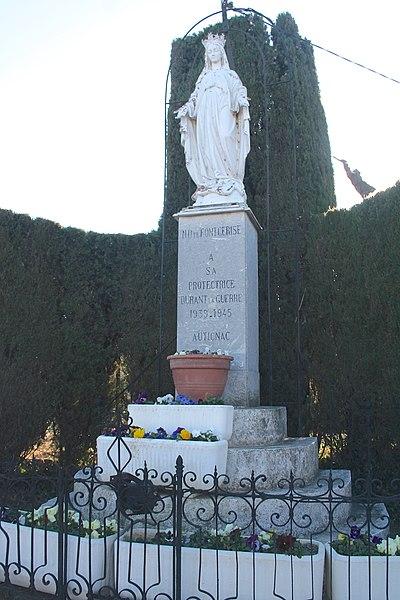 Autignac (Hérault) - Vierge.