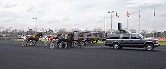 Harness racing - Mobile starting gate at Vincennes, France