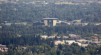 Autzen Stadium - Autzen Stadium as seen from the summit of Spencer Butte.