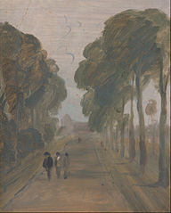 Avenue with Figure