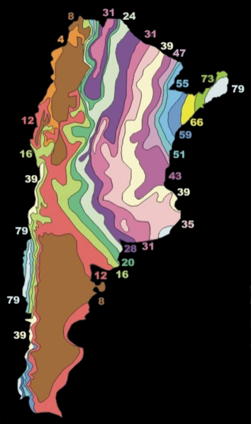 Average Rain Fall in Argentina By Giornorosso (Own work) [CC BY 3.0 (https://creativecommons.org/licenses/by/3.0)], via Wikimedia Commons