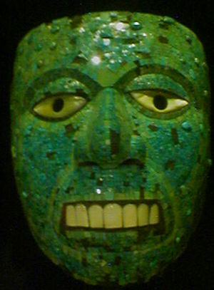 Aztec mask of Xiuhtecuhtli, c. 1500, of Mixtec...