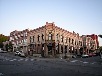 Bellingham, Washington - An old bank building, built in 1900 in the Fairhaven Historic District.