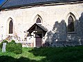Běleč (KL), kostel svatého Mikuláše, vchod.jpg