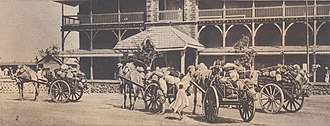 South Arabia during World War I - British military transport in Aden.