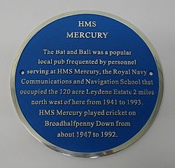 Bat and ball plaque