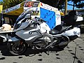 BMW K 1600 GTL et stand de la Sécurité routière.jpg