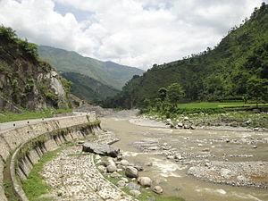 B.P. Koirala Highway - Image: BP highway Roshi river