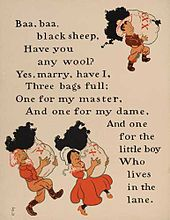 William Wallace Denslow S Ilrations For Baa Black Sheep From A 1901 Edition Of Mother Goose