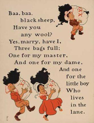 Baa, Baa, Black Sheep - William Wallace Denslow's illustrations for Baa, Baa, Black Sheep, from a 1901 edition of Mother Goose