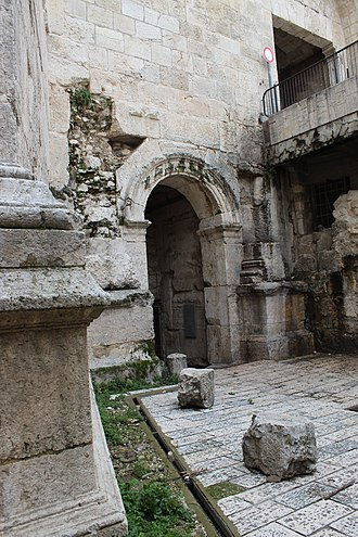 Judea (Roman province) - Old Roman era gate, Bab al-'Amud, in Jerusalem's Old City