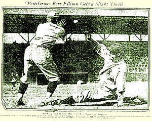 Bert Ellison - Los Angeles Times, May 29, 1922: Pestiferous Bert Ellison Gets a Slight Thrill