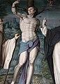 Bachiacca, ss. benedetto, sebastiano e domenico, angeli nella lunetta 04.JPG
