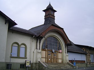 Halle–Bebra railway - Bad Kösen station 2007