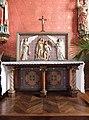 Baguer-Morvan (35) Église Saint-Pierre-et-Saint-Paul - Intérieur - Autel et retable sud 01.jpg