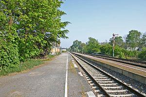 Dorsten station - Platforms 1 east and 2 east, 2014