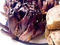 Baked artichokes - Alcachofas al horno - Carxofes al forn (6795991496).jpg
