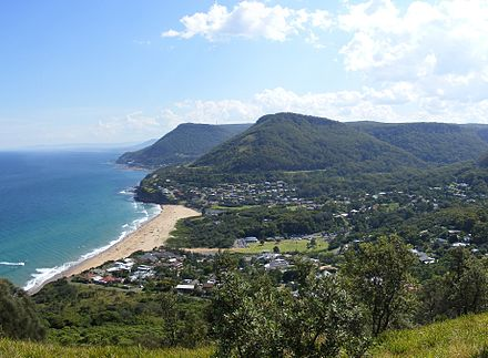 Scenic view of Wollongong's northern coastline from Bald Hill, overlooking Stanwell Park Bald Hill, overlooking Stanwell Park.jpg