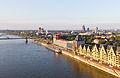 Ballonfahrt über Köln - Südbrücke, Rheinauhafen mit Kap am Südkai, ECR, Silo, Siebengebirge-RS-4056.jpg