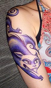 7c538e7a9 Lennie Mace ballpoint body art (temporary tattoo) 2006, Tokyo