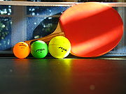 40 mm, 44 mm, and 54 mm celluloid Table Tennis balls