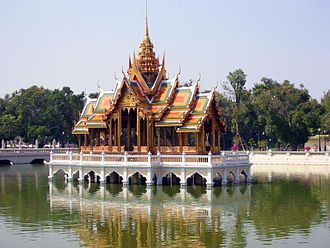 Phra Nakhon Si Ayutthaya Province - Floating pavilion in Bang Pa-In Royal Palace in Bang Pa-In district