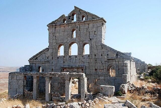 Las aldeas antiguas del norte de Siria. La iglesia de Baqirha
