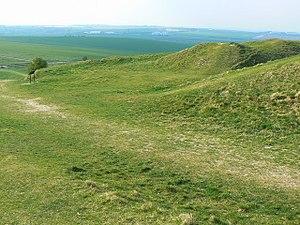 Sub-Roman Britain - Barbury Castle, 6th century hill fort, near Swindon, in South West England