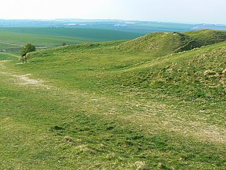 Sub-Roman Britain - Barbury Castle, 6th century hill fort, near Swindon, in South West England