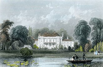 Barn Elms - Barn Elms manor house in the Victorian era