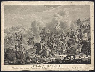 Peninsular War - Portuguese and British troops fighting the French at Vimeiro.