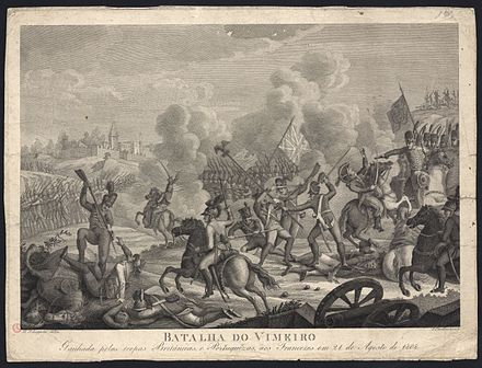 Portuguese and British troops fighting the French at Vimeiro. Batalha do Vimeiro.jpg