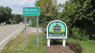 Batavia, Ohio - Batavia corporation limit sign