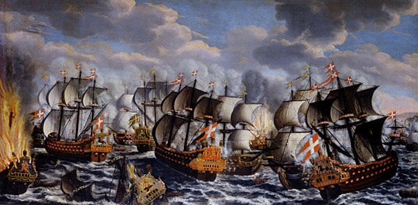 Battle in køge bay-claus moinichen 1686