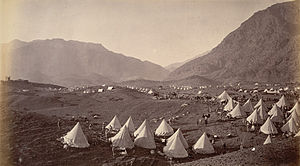 Battle of Ali Masjid - British troops camped on the Shagai ridge