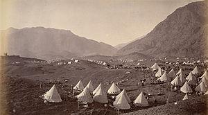 Battle of Ali Masjid - British troops camped on the Shagai ridge