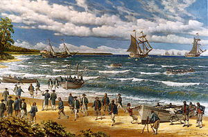 History of the United States Marine Corps - Continental Marines land at New Providence during the Battle of Nassau