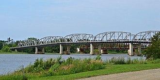 Baudette–Rainy River International Bridge - International Bridge seen from the Canadian side