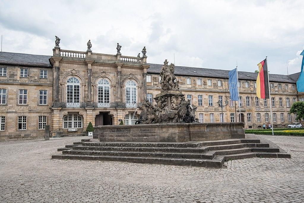 Markgrafenbrunnen und Neues Schloss Bayreuth (Bayreuth Rundgang)