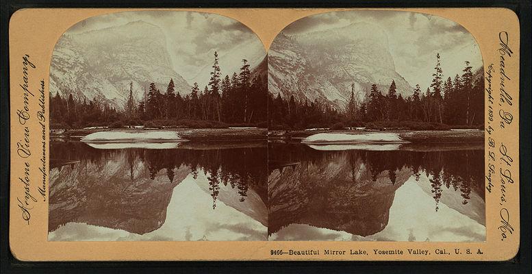 Beautiful Mirror Lake, Yosemite Valley, Cal. U.S.A, by Singley, B. L. (Benjamin Lloyd) 4.jpg