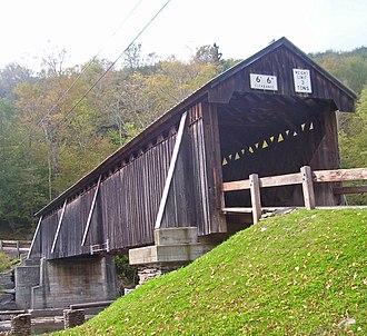 Beaver Kill - Image: Beaverkill Covered Bridge