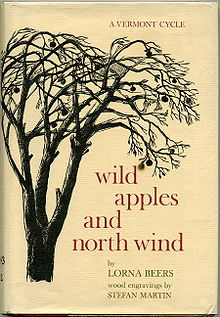 Photo of cover of Lorna Beers' memoir Wild Apples and North Wind.
