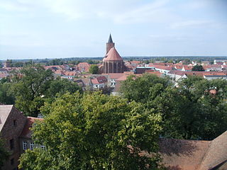 Beeskow Place in Brandenburg, Germany